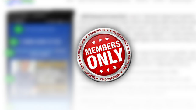 get access to members area content